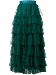 Forte Forte Tiered Tulle Skirt Green