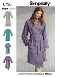 Simplicity 'S Coat Sewing Pattern 8798