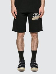 Off White Tape Arrows Sweat Shorts Black