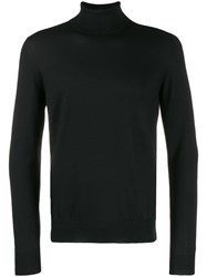 Fay Turtleneck Fine Knit Sweater Black