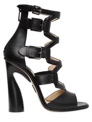 Paul Andrew 115Mm Lagertha Elaphe And Leather Sandals