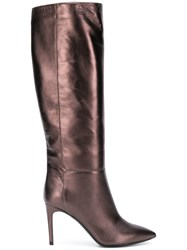 Pollini Knee High Boots Brown
