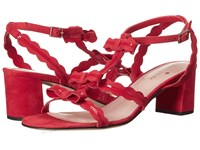 Kate Spade Medea Poppy Red Kid Suede Red Patent