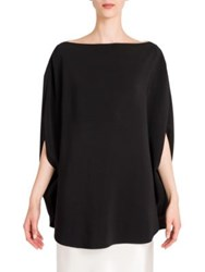 Jil Sander Solid Boatneck Blouse Black