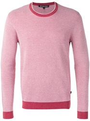 Michael Kors Crew Neck Jumper Men Cotton M Red