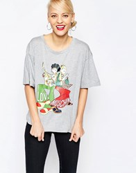 Love Moschino Hippie Chick T Shirt Gy1 Grey