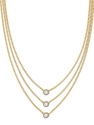 Cole Haan Three Row Goldplated Necklace