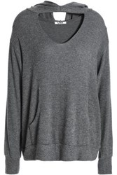 Lna Cutout Brushed Stretch Tencel Hoodie Anthracite