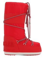 Moncler Saturne Moon Boots High Red