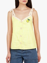 Ted Baker Asinara Button Detail Cami Top Yellow Mid