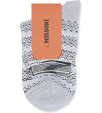 Missoni Short Wavy Striped Socks Grey 006