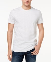 Kenneth Cole New York Men's Printed T Shirt White