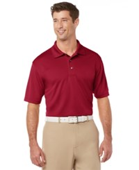 Pga Tour Men's Big And Tall Airflux Solid Golf Polo Chili Pepper