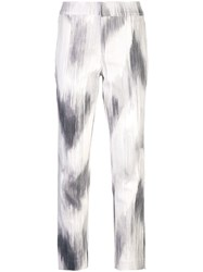 Josie Natori Texture Cotton Slim Pant White