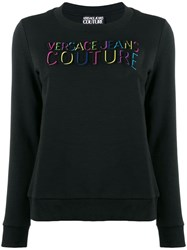 Versace Jeans Couture Embossed Logo Sweatshirt Black