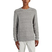 Barneys New York Mixed Knit Alpaca Wool Sweater Gray