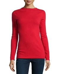 Todd And Duncan Cashmere Long Sleeve Mock Turtleneck Cardinal