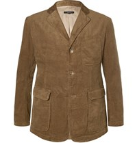 Engineered Garments Garment Baker Lim Fit Untructured Cotton Corduroy Blazer Brown