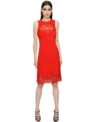 Ermanno Scervino Cady Stretch And Lace Dress