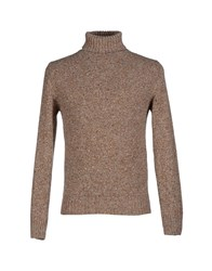 Heritage Knitwear Turtlenecks Men Khaki