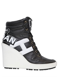 Hogan 100Mm Lace Up Wedge Sneakers