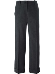 Alberto Biani Jacquard Tapered Trousers Grey