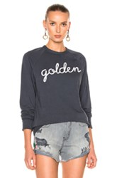 Sandrine Rose Golden Long Sleeve Tee In Blue Gray Blue Gray