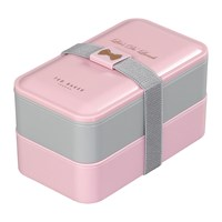 Ted Baker Lunch Stack And Cutlery Set Pink Grey