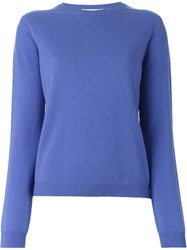 Jil Sander Crew Neck Sweater Blue