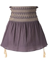 Harare High Rise Gathered Skirt Women Cotton M Grey