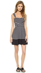 Band Of Outsiders Breton Stripe Sundress Black White