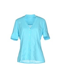 Jeckerson Shirts Turquoise