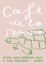 Semaine Luke Edward Hall X Cafe De La Signed Artist Print Tobias The Tortoise Pink Edition Of 50