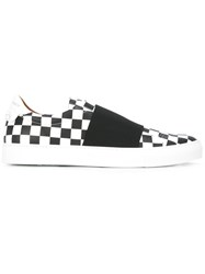 Givenchy Checkerboard Slip On Trainers Black