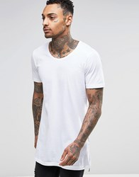 Diesel T Shirt T Marcuso Wide Neck Loose Longline In White White