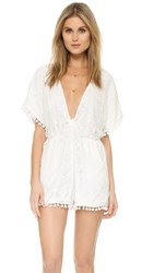 6 Shore Road La Paz Lace Romper Moonlight White