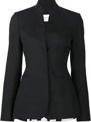 Vionnet Back Pleat Fitted Jacket Black