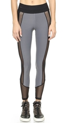 Blue Life Fit Contrast Leggings Grey Black