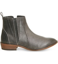 Office Lone Ranger Leather Ankle Boots Grey Leather