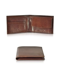 The Bridge Wallets Story Uomo Brown Leather Billfold Wallet