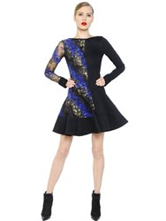 Antonio Berardi Flocked Lace And Cady Dress