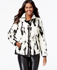 Inc International Concepts Faux Fur Printed Jacket Only At Macy's Cow Zig Zag