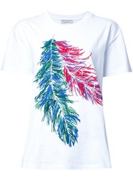 Emilio Pucci Feather Print T Shirt White