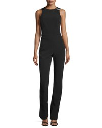 Thierry Mugler Open Back Cady Jumpsuit Black