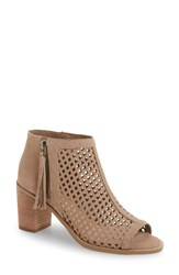 Vince Camuto Women's Tresin Perforated Open Toe Bootie Smoke Show Leather