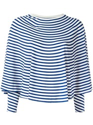 Maison Martin Margiela Mm6 Striped Sweatshirt Blue