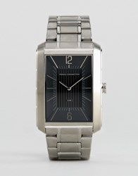 French Connection Watch With Rectangular Case Black Dial Silver