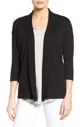 Chaus Women's Cotton Open Front Cardigan Rich Black