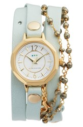 La Mer Women's Collections Perth Wrap Leather Strap Watch 22Mm Mint White Gold