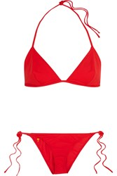 Tomas Maier Embroidered Triangle Bikini